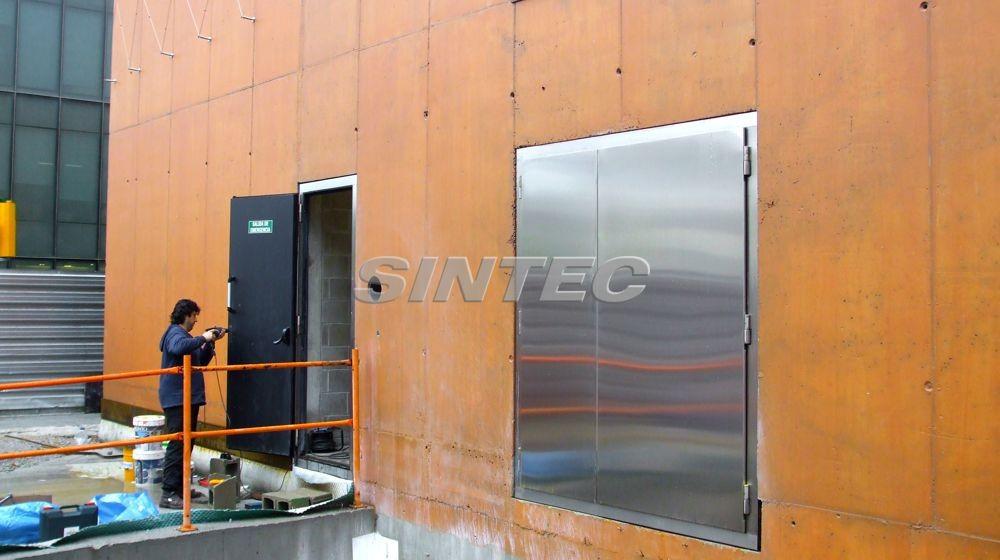 Instalación puerta insonorizada