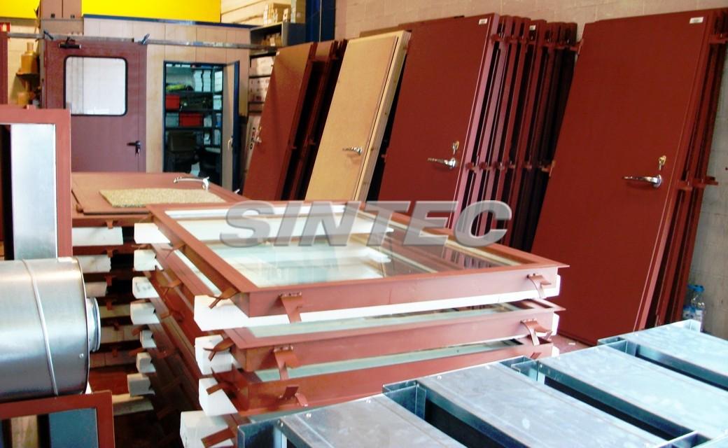 Fabricación de puertas acústicas
