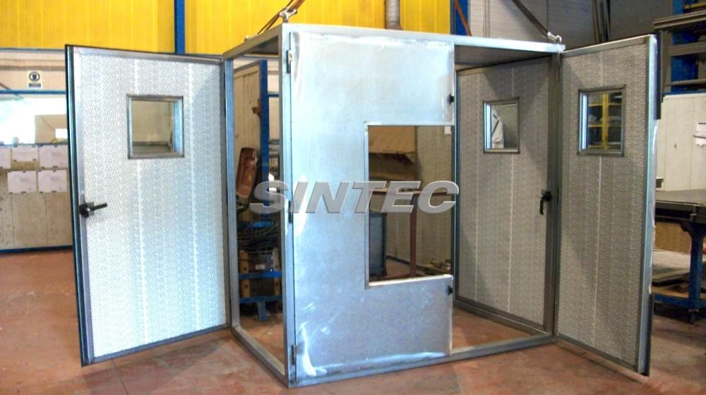 Cabinas acústicas de dimensiones especiales, adaptadas según requerimientos de la instalación.